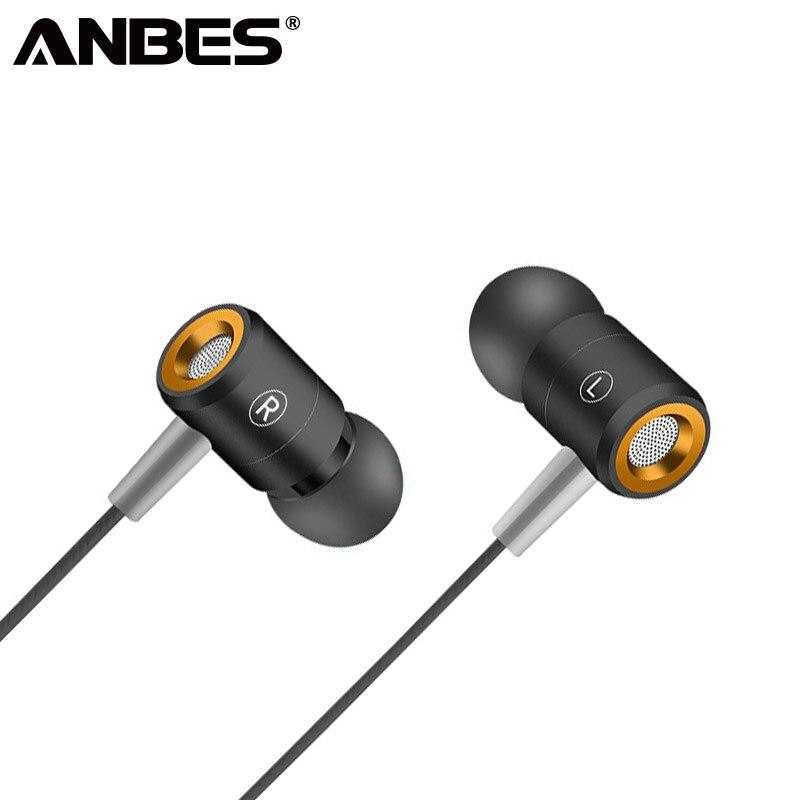 ANBES W508 Earphone With MIC Sweatproof Gym Sport Wired Earphones Bass Headphones For iPhone xiaomi