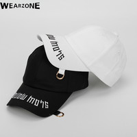 2017 Wearzone Women fashion Cotton baseball cap ring hoop hat letters baseball cap men curved hats baseball cap Male female