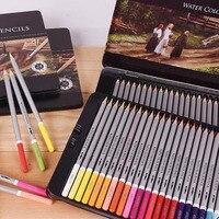 24 36 48 72 lápices de colores lápices pastel herramientas de dibujo profesional de la escritura suministros acuarela plomo soluble en agua de color Mezclado