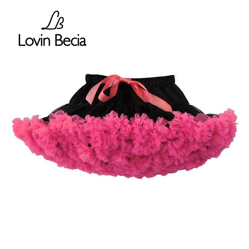 LovinBecia 2018 Fashion girls tutu skirts baby casual ballet skirt children fluffy tulle skirt kids girls Party Mini dance skirt mesh ballet light up cosplay party skirt