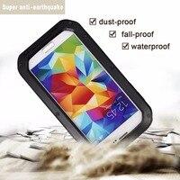 Ultra Fino de Metal Shell Impermeable Anti Caída Anti Arañazos Teléfonos Móviles Shell Caso Protector Para Samsung Galaxy S4/5/6/Nota 4