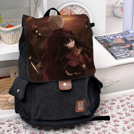 Anime Fate/stay night Cosplay Tohsaka Rin Backpack Fashion casual large capacity Bags For Men Women School Bags fate stay night fate zero anime cosplay wallet oxford short thin women men coin purse free shipping