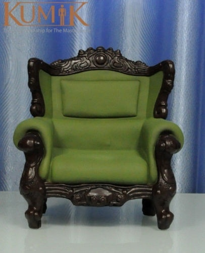 ФОТО KUMIK AC-8 Model Toys 1/6 Green Armchair Leather Sling Chair Couch F 12