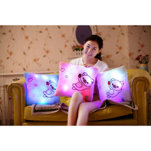 Children 's Day Hot! LED Light Colorful Play Music Pillow Square Bear Plush Toys Kids Adult New Sale 5 Colors Body Pillow