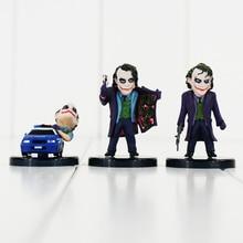5pcs/lot 4-6cm Batman The Dark Knight The Joker Mini PVC action Figure Joker The Evil Opponent of Batman Collection Toys Doll