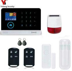 Yobang bezpieczeństwa z systemem Android IOS APP sterowania bezprzewodowy system alarmowy Wi Fi GSM energii słonecznej na zewnątrz syreny SMS Home GSM Alarm detekcji ruchu w Zestawy systemów alarmowych od Bezpieczeństwo i ochrona na