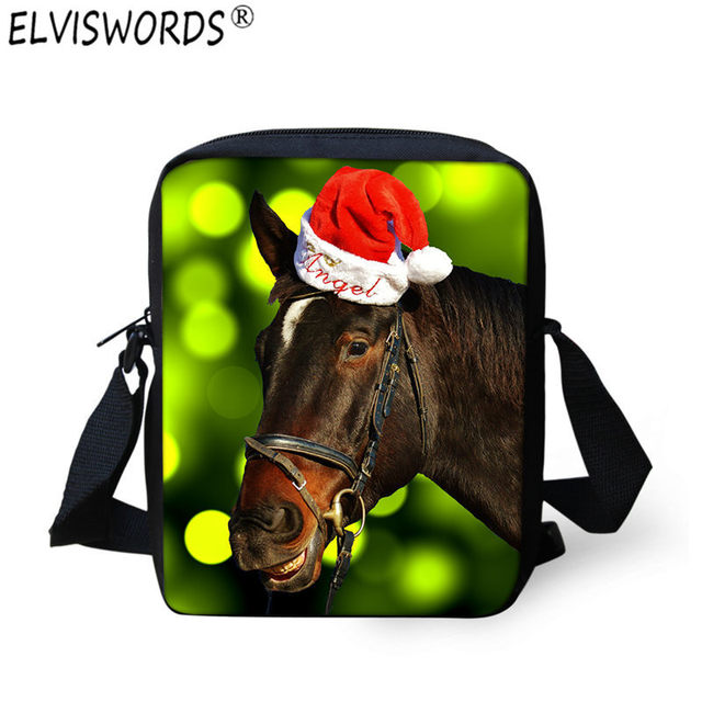 Christmas Horse Tack.Us 8 99 Elviswords 3d Christmas Horse Print Messenger Bags Children Boy Kids Travel Crossbody Bag Ladies Spain Bags Satchel Kids Bolsos On