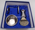 Stainless Handle Silvertip Badger Hair Shaving Brush & Stand &Bowl &Gift Box