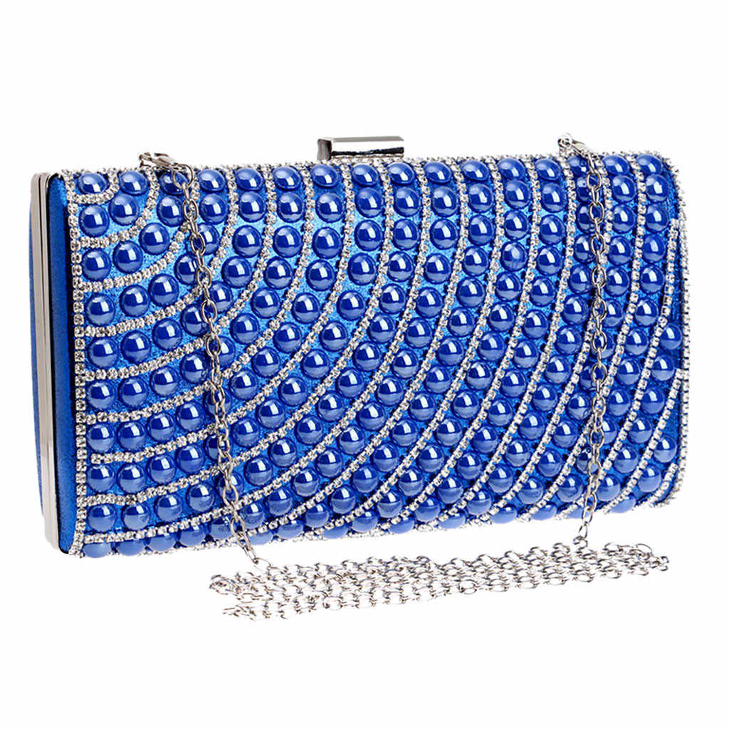 CONEED Fashion Sequined Clutch Women's Evening Bags Bling Day Clutches Gold Color Metal Wedding Purse Female Handbag May17