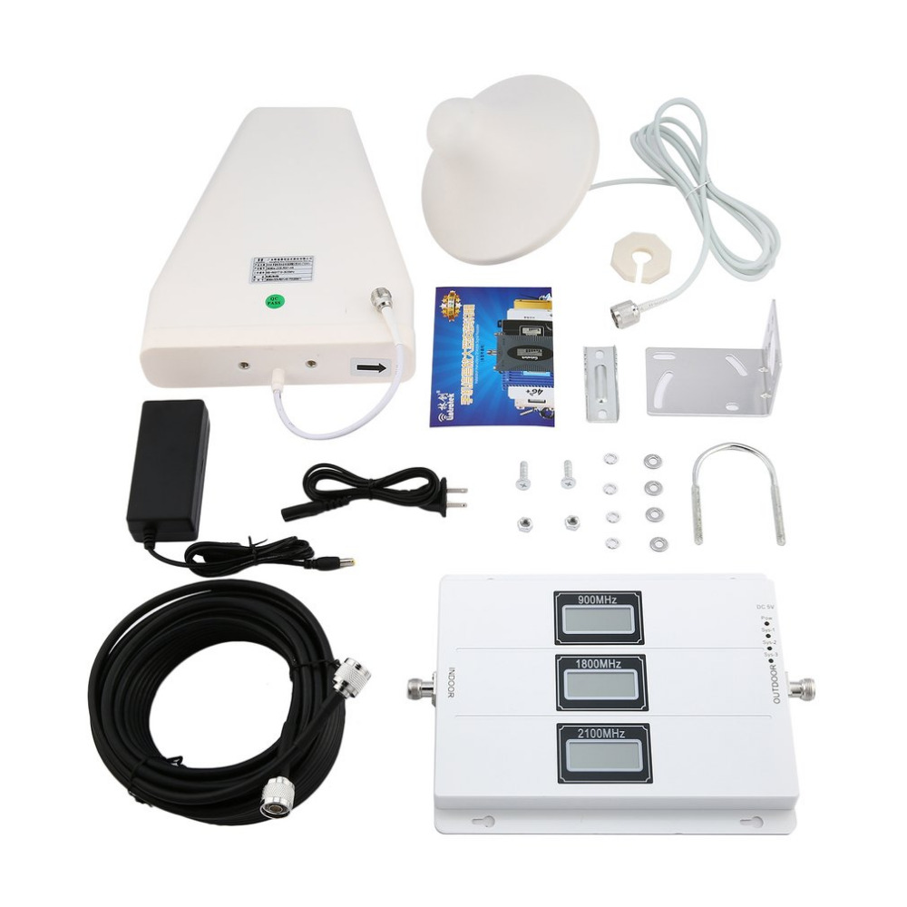 GSM 900 mhz 1800 mhz 2100 mhz Externe Extérieure Répéteur Amplificateur de Signal Portable Taille Mobile Téléphone Amplificateur de Signal