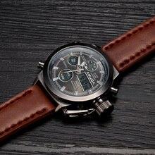2016 Relojes Hombres Marca de Lujo AMUDA Buceo LLEVÓ Relojes Deporte Militar Reloj Genuino Reloj de Cuarzo de Los Hombres Reloj de Pulsera Relogio masculino