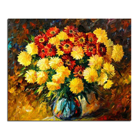 Chrysanthemums bloom 50x60 DIY square drill rhinestone pasted painting cross stitch crafts Needlework Diamond Drawing