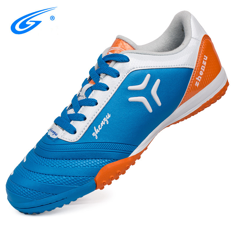 zhenzu 2018 New Turf Futsal Soccer Shoes for men Indoor Football Boots Professional TF Soccer Boots Nails Cleats Sneakers indoor soccer shoes for men futsal soccer boots professional football shoes original athletic training soccer cleats tf trainer