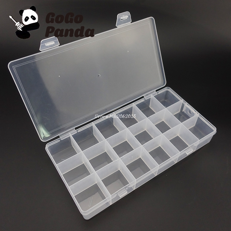 Free Shipping High Quality Mine Size 18 Transparent Plastic Parts Box Screwbox  ZT18