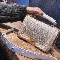 Brand Crossbody Bags For Women 2018 Winter Luxury Handbags Women Bags Designer Messenger Bag Wool bolsa feminina