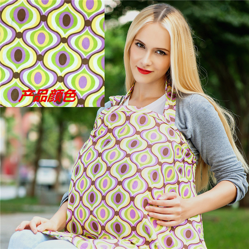 Cotton Breastfeeding Cover Nursing Covers shawl breast feeding covers Flower Printed Nursing Covers For Feeding Baby