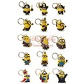Top selling 20pcs/lot Despicable me Minions keychains key holder Action Figure Kids toy gift Key ring Hanging Accessories