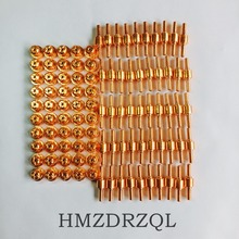 FREE SHIPPING 100Pcs PT-31 Electrode Tip Plasma Cutter Cutting Consumables KIT Plasma Nozzles Fit Cut-40 50D CT-312 PT31 100PK 100pcs pt31plasma cutter cutting consumables kit extended electrodes tips fit cut40 50d ct312 welding accessories