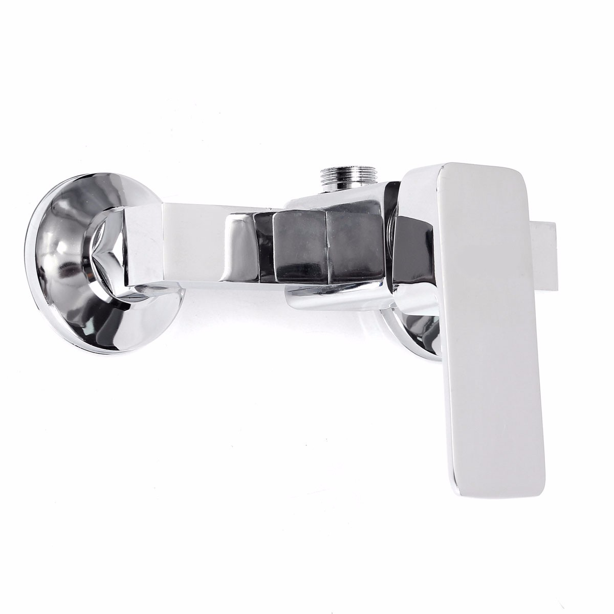 chrome plated zinc alloy bathroom mixer faucet tap wall mounted shower mixing valve hot and cold