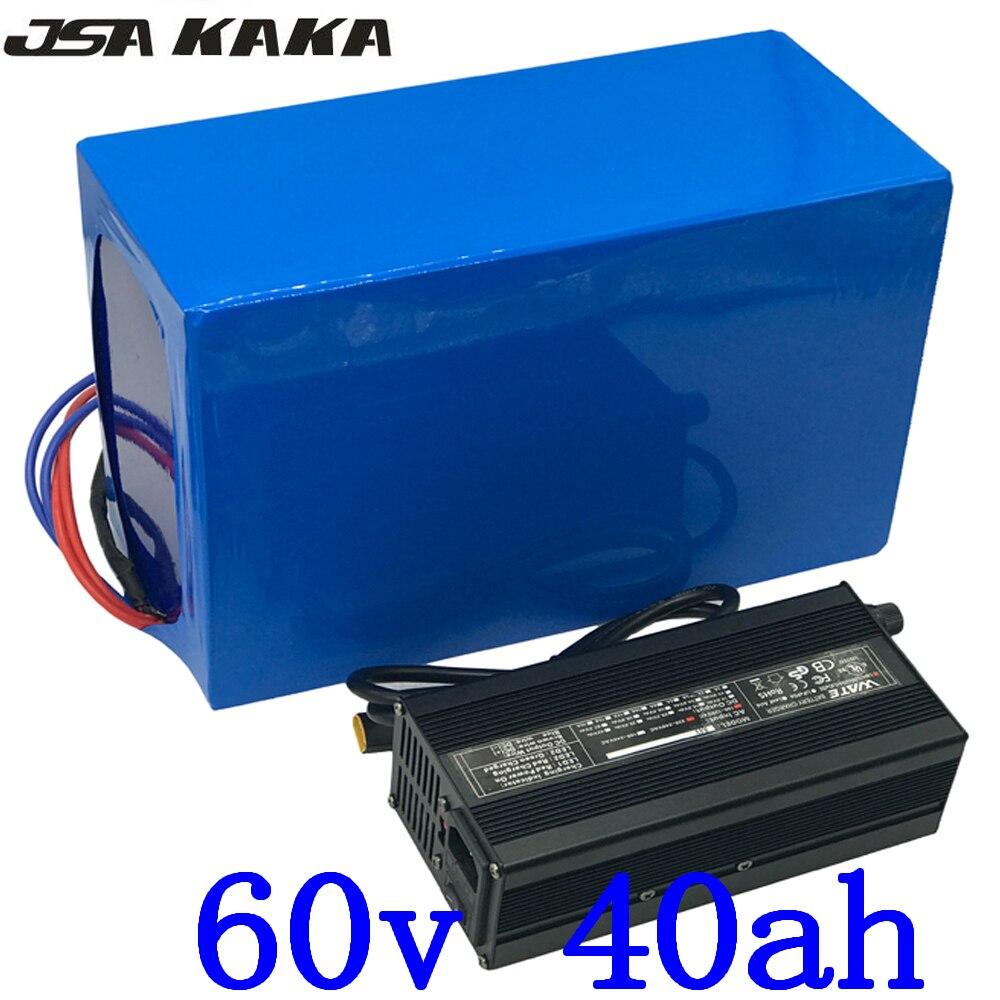 60V electric scooter battery 60V 2000W 3000W 4000W battery 60V 40AH Electric Bike battery 60V 40AH Lithium battery use LG cell