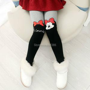 Image 4 - Girls Winter warmer pants thick hello kitty cat cotton leggings for baby girls child kids elastic waist fur warm cartton pants