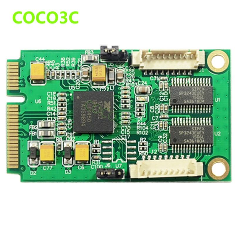 Mini PCIe 2 Seriële poorten Controller-kaart mini PCI-e naar DB9 - Computer componenten - Foto 2