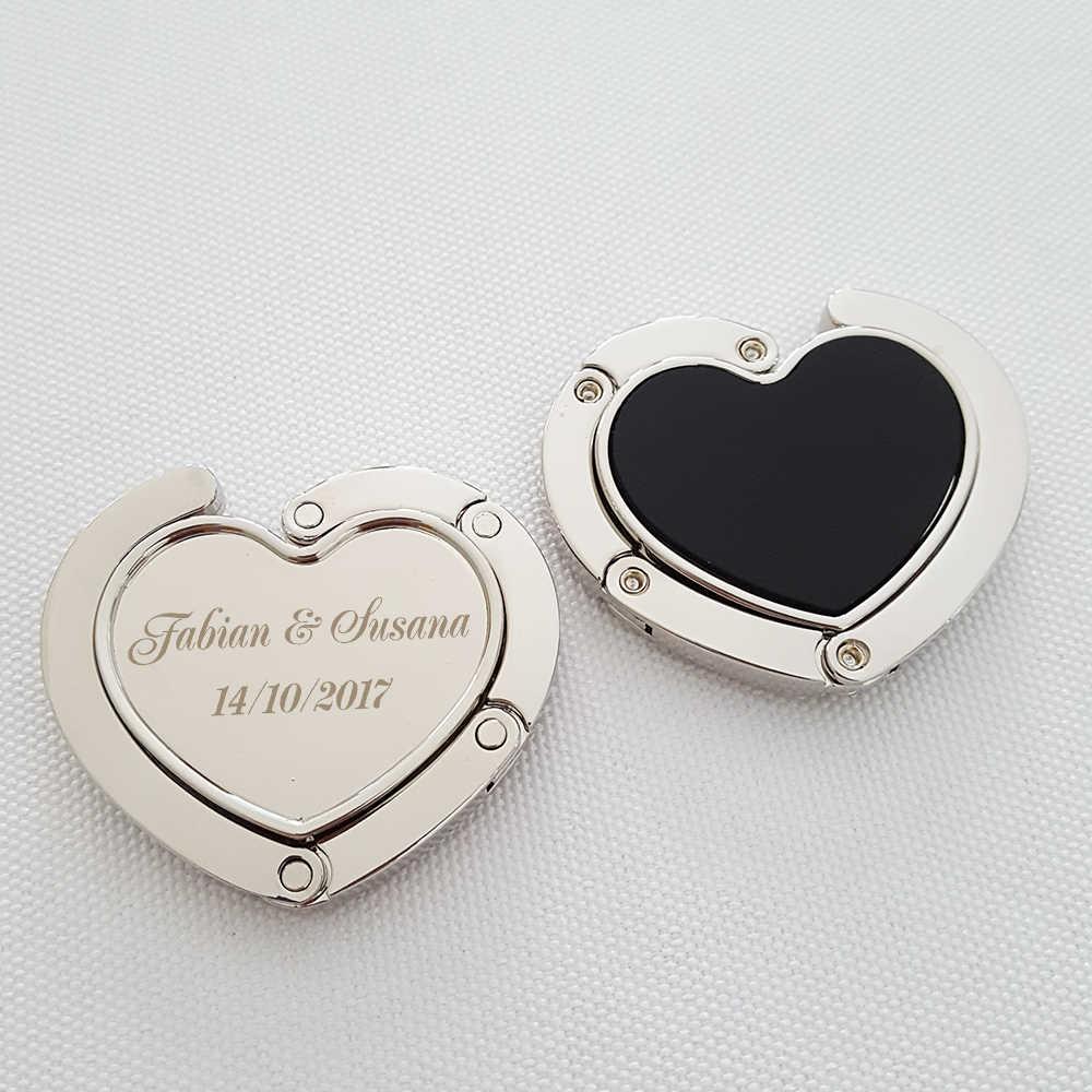 Personalized Wedding Guest Favor Giveaway Heart Shape Handbag Holder Purse  Hook Women's Handbag Hanger Bridal Shower Party Favor|favors shower|favors  partywedding favors guests - AliExpress