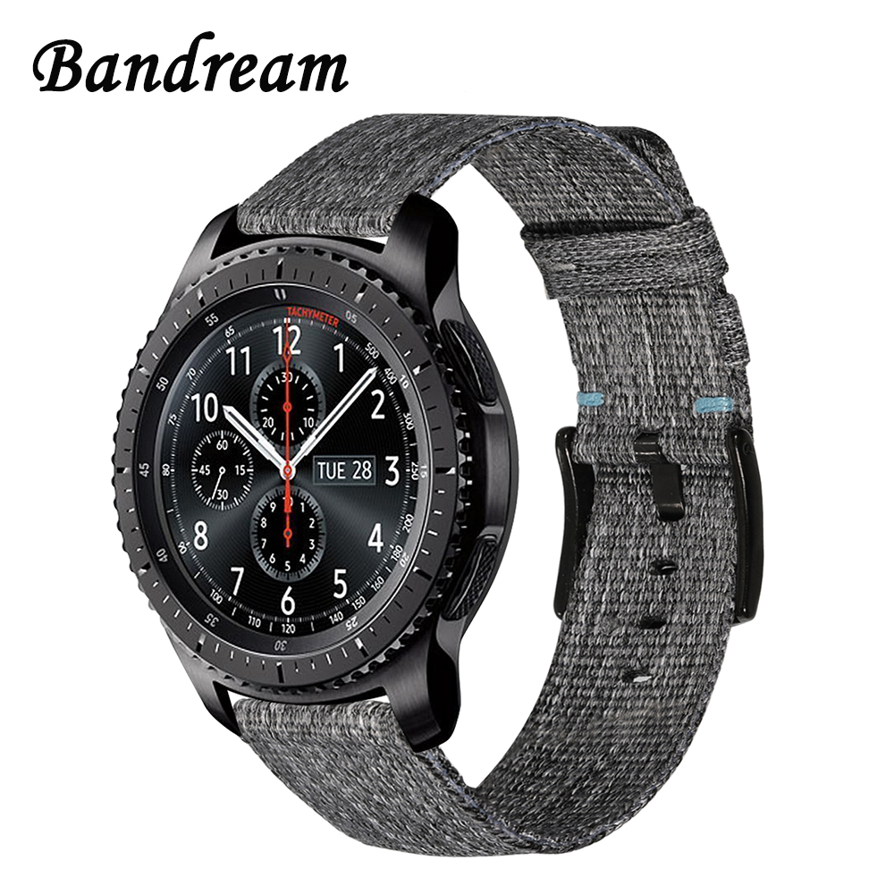 Canvas Nylon Watchband 22mm for Samsung Gear S3 Classic Frontier Xiaomi Amazfit 1 2 2S Stratos Watch Band Quick Release Strap цена и фото