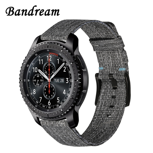 Canvas Nylon Watchband 22mm for Samsung Gear S3 Classic Frontier Xiaomi Amazfit