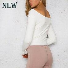 V Neck Women Black Sweater Knitted Pullover