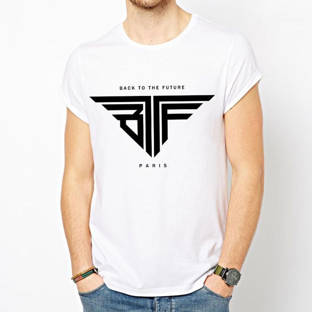 Back To The Future Bttf T Shirt Men Paris T Shirts Cotton