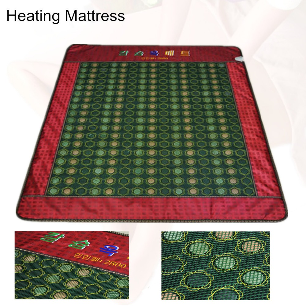 heat Tourmaline mattress Bed for Home Use Jade Cushion Natural Tourmaline Physical Therapy Mat korea heated Free Gift eye cover best selling korea natural jade heated cushion tourmaline health care germanium electric heating cushion physical therapy mat