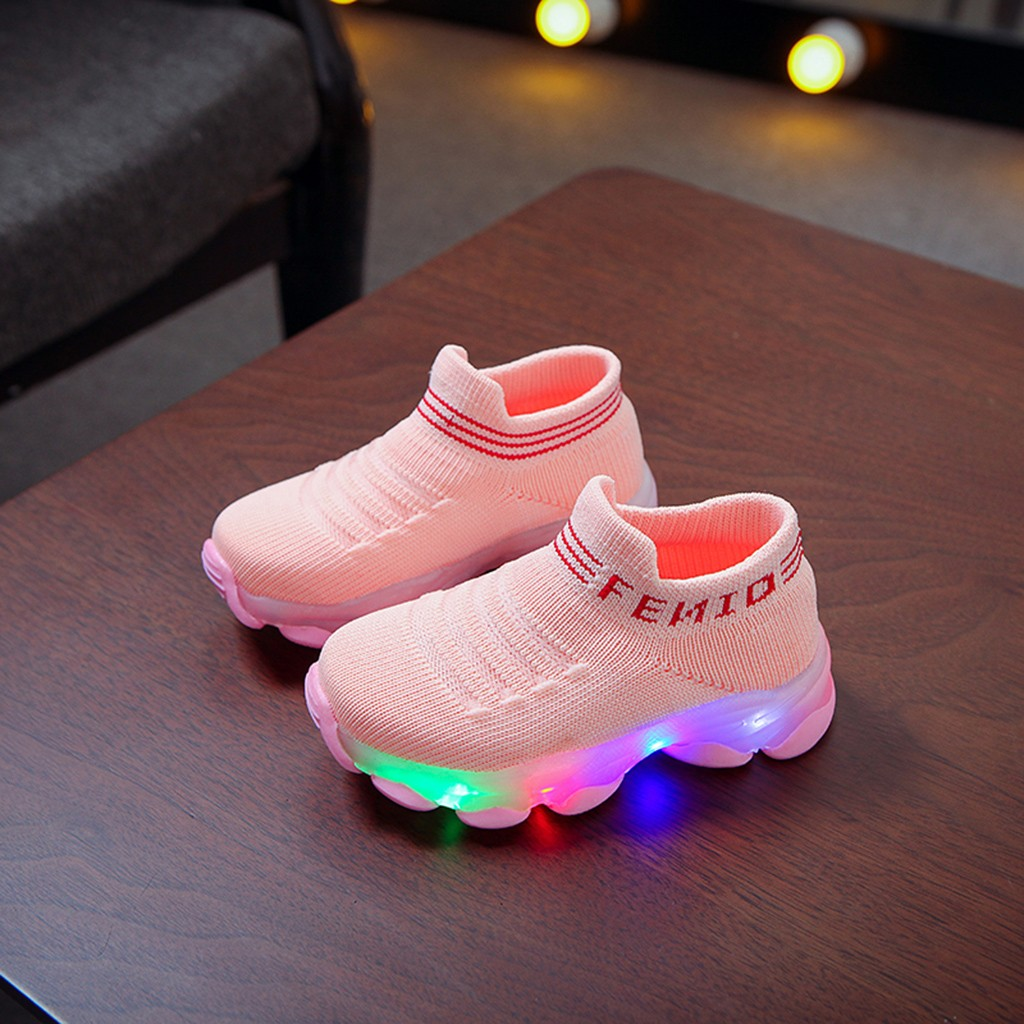 LED Letter Pattern Breathable Sneakers 3