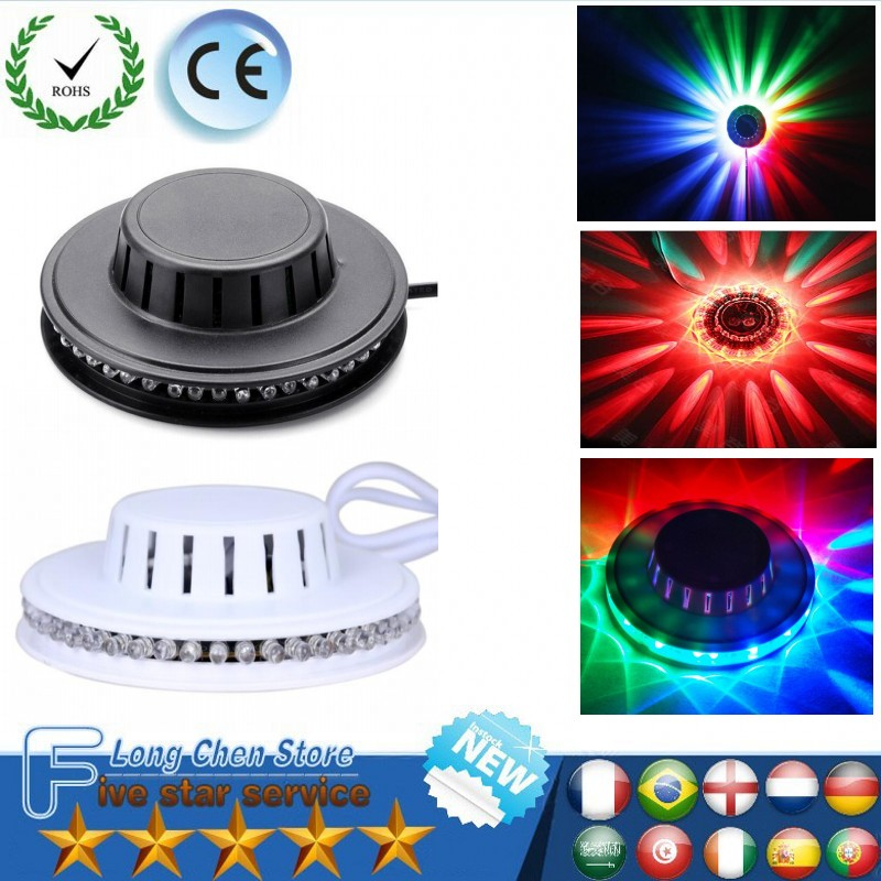 UFO Portable Laser Stage lights 9w rgb 48 leds sound activated Sunflower led lighting wall lamp for KTV DJ Party Wedding new d19 sound activated 5w 48 led rgb crystal magic sunflower light white