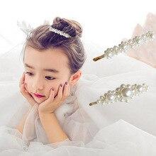 Модный зажим для волос с жемчугом заколки для волос принцесса заколки для волос декоративные аксессуары для девочек детей