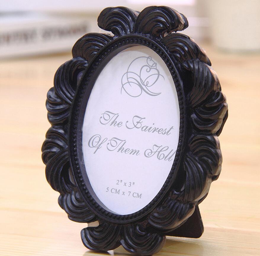 10 stücke Retro Hand Gravur Mini Oval Bilderrahmen Für Hochzeit Baby ...