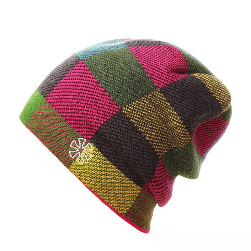 SN.SU.SK 2019 Warm Winter Hat Knitted Beanies Hats For Men Women Caps Skullies Gorros Casual Bonnet Beanie Cap 2