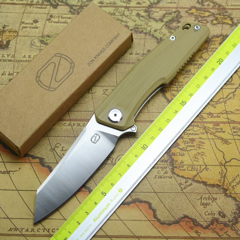 STEDEMON KNIFE   ZKC C 02 Flip folding knife ball bearing 440C blade G10 handle outdoor camping multi purpose hunting EDC tool|Knives| |  - title=