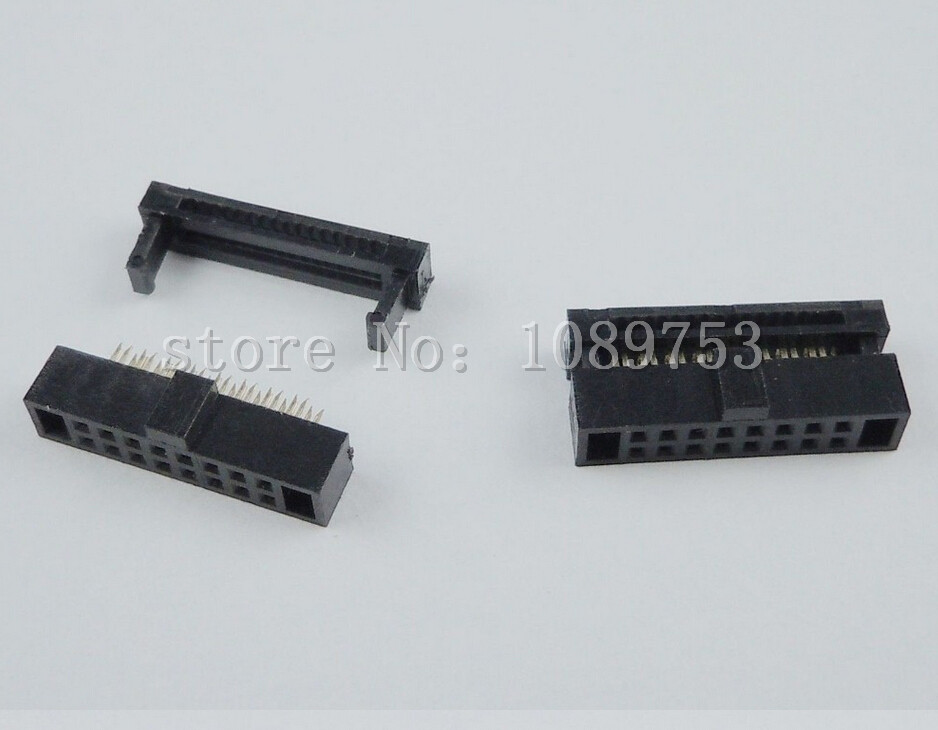 10Pcs 1.27mm Pitch 2x8 Pin 16 Pin IDC FC Female Header Cable Socket Connector 10 pcs idc fc pitch 2 0mm 34 pin cable female header socket connector 2x17 pin