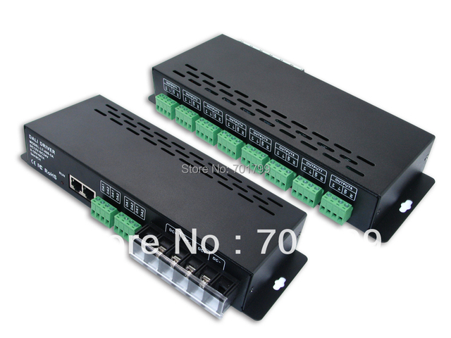 LT-408-5A,DALI constant voltage led dimmering driver,DALI signal input,5A*8CH PWM and 0-10V*8CH output