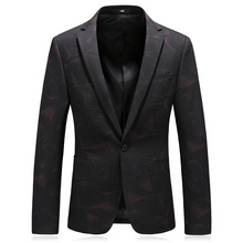MarKyi fashion print winter men blazer slim fit new brand single button mens blazers and suit jackets plus size 4xl