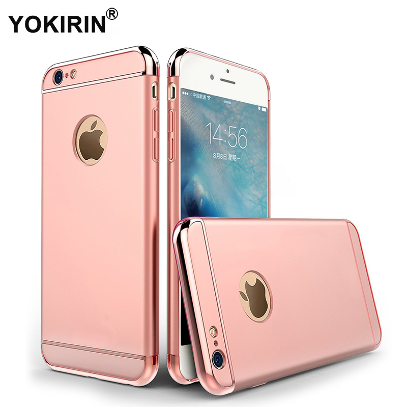 YOKIRIN For iPhone 6 / 6s Case [Extreme Protection][Shock Absorbent] [Metal Plating] Hard Plastic Cover Case for iPhone 6 / 6s