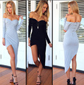 New 2016 Celebrity Elegant Sexy Cocktail Club Party Prom Slim Dress Sweetheart Long sleeve Pencil Dress Autumn vestidos GG14