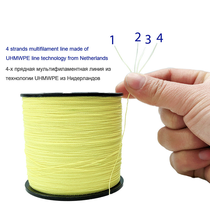 Image 2 - New Fishing Line 300M Long Super Strong 4 Strands Braided Multifilament Fishing Line From Dutch Craft Fishing Gears Crap Tool-in Fishing Lines from Sports & Entertainment