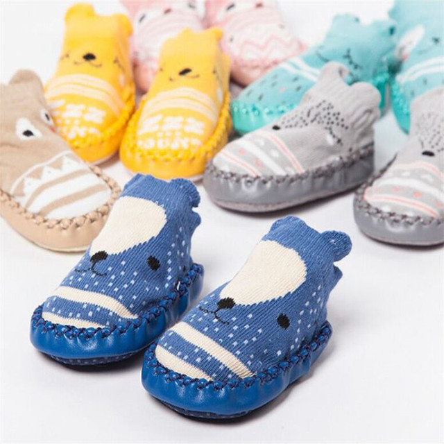 Infant First Walkers Leather Baby Shoes Cotton Newborn Toddler Boy Shoes Soft Sole Autumn Winter Babies Shoes for Baby Girl 6