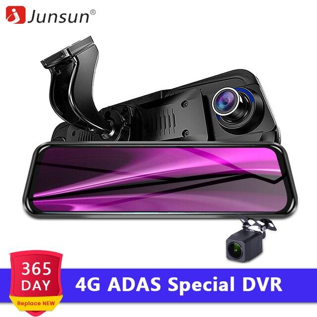 """Junsun Новый 4G ADAS видеокамера на ОС андроид для автомобиля Камера 10 """"потоковая зеркало заднего вида 1080 P WiFi для панели, GPS Cam РЕГИСТРАТОР специальный видео Регистраторы"""