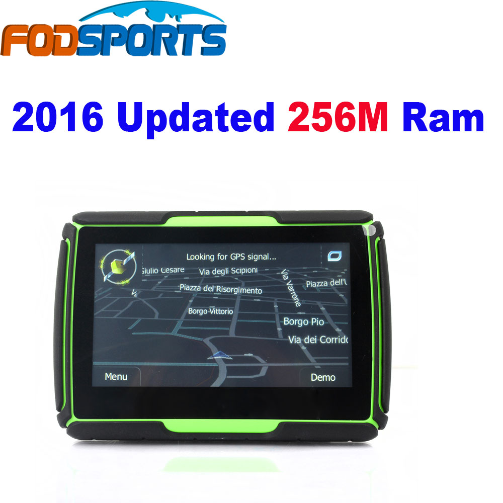 2016 Updated 256M FM and 8GB Update 4 3 Waterproof Bluetooth Motorcycle font b GPS b