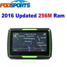 """2016 actualización 256 m! FM y 8 GB actualización! 4.3 """" Bluetooth impermeable de la motocicleta de navegador GPS 8 GB flash + profesional mapas"""