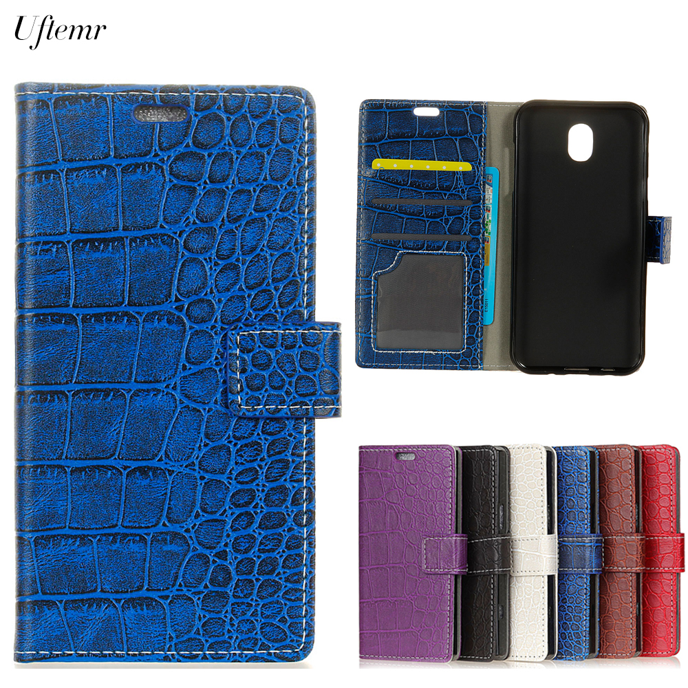 Uftemr Vintage Crocodile PU Leather Cover Silicone Case for Samsung Galaxy J5 2017 Eurasia Edition Wallet Card Slot Acessories