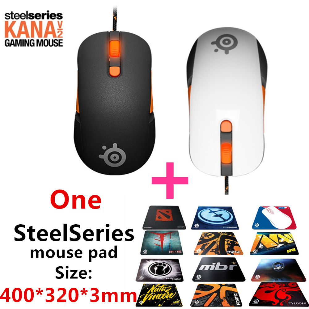 Free shipping original SteelSeries Kana V2 mouse Optical Gaming Mouse & mice Race Core Professional Optical Game Mouse steelseries sensei [raw] gaming mouse steelseries engine brand new free